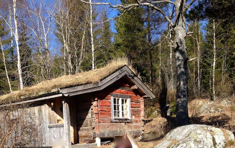 An old log cabin at a small place. - Enebakk - Ağaç Ev