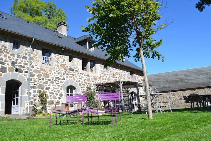 Maison avec jardin et vue montagnes - Lavigerie - Casa
