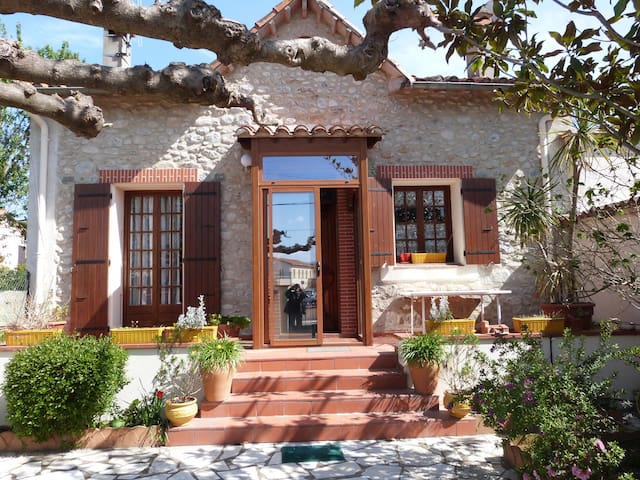 Maison de charme catalane avec jardin et terrasse - Maureillas-Las-Illas - Appartement