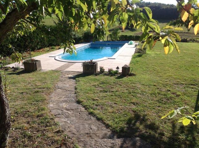 Unique stone villa private pool - Boussac - Hus