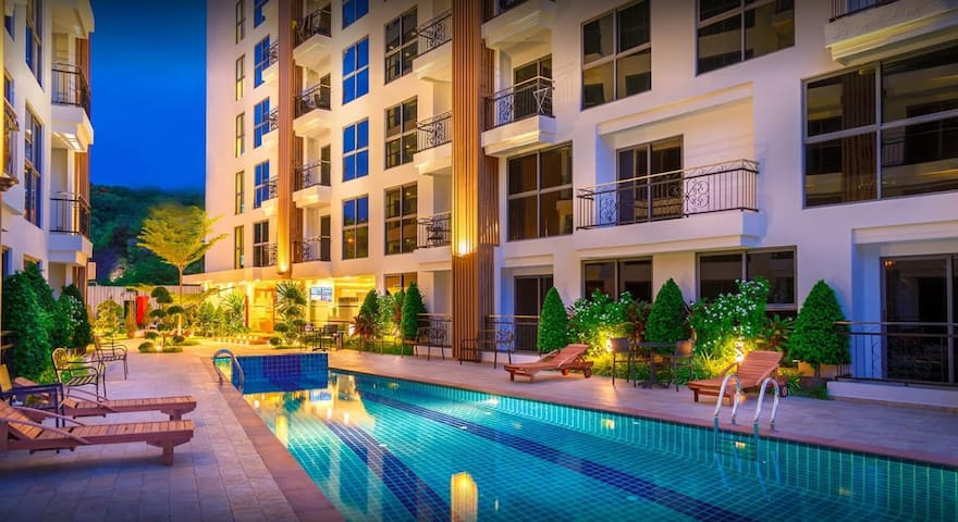 City Garden Pratumnak  Room A103 - Pattaya - Lägenhet