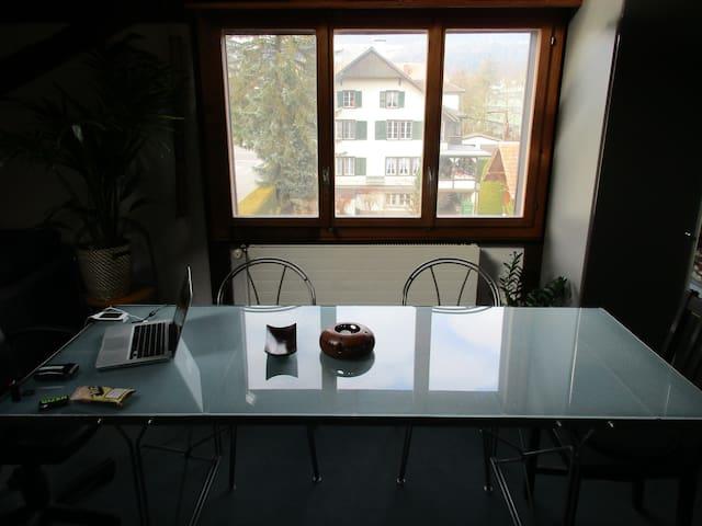 Die Wohnung für Skifahrer die Abwechslung suchen - Konolfingen - Apartment