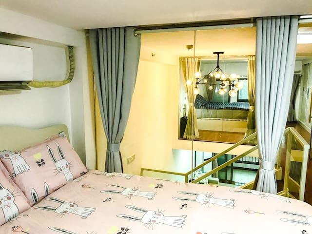 白云国际机场旁,空港碧桂园小区,全新现代loft公寓,免费停车 - Guangzhou - Leilighet