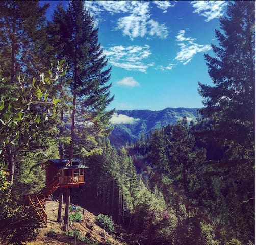 Remote Off-Grid Rustic Treehouse - Gasquet - Boomhut