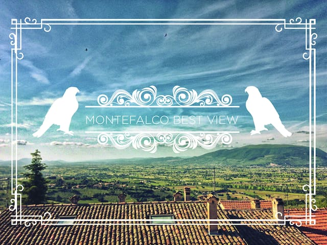 Best view of Umbria! flat in tipical brick house - Montefalco - Daire