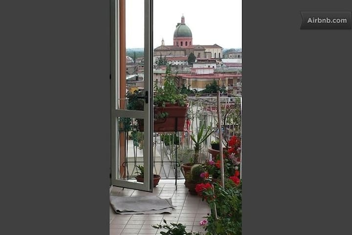 Camera con bagno e vista panoramica - Nola - Apartemen