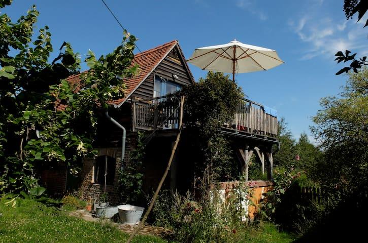 Backsteinhäuschen mit Ausblick - Uckermark - Gerswalde - Ev
