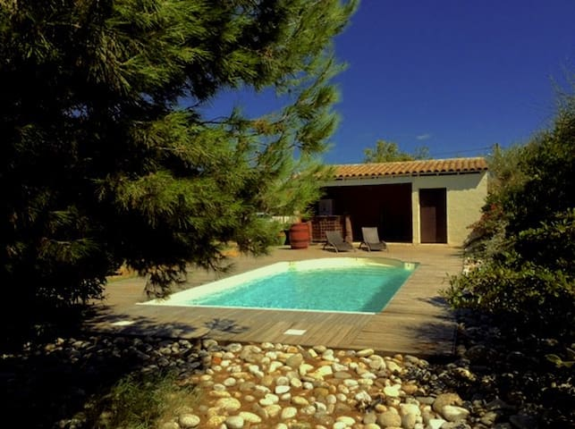 Nice house, with heated pool, garden and studio - Lézignan-Corbières - Ev