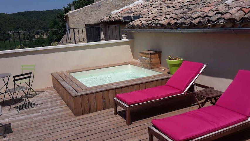 Chambre double avec sdb privée+pdj +accès Jaccuzi - Vinsobres - Casa