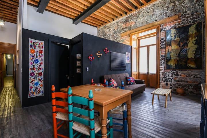 Mexican Artcraft. Balcony flat. - Ejido del Centro - Wohnung