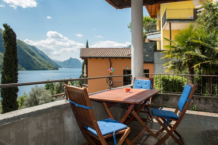 Great apartment at Lugano Lake - Cressognio, Valsolda - Appartement