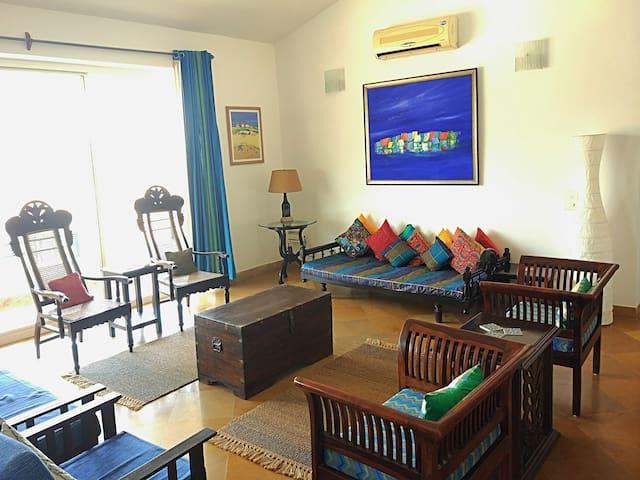 Nilaya - A blue hued cozy apartment near the beach - Varca - Leilighet