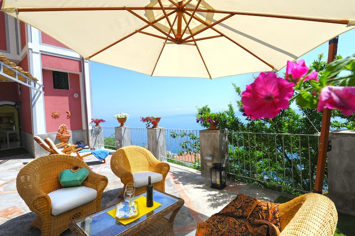 Rocco Palace -Villa Red Moon in Love- Amalfi Coast - Praiano - Vila
