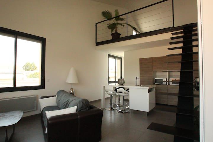 Loft 50m² proche centre historique - Pézenas - Apartamento