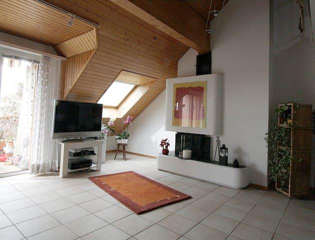 Appartement en attique à 500m de l'EPFL et du lac - Ecublens - Lägenhet
