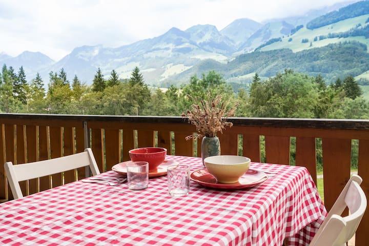 Panoramic view montain chalet - Haut-Intyamon