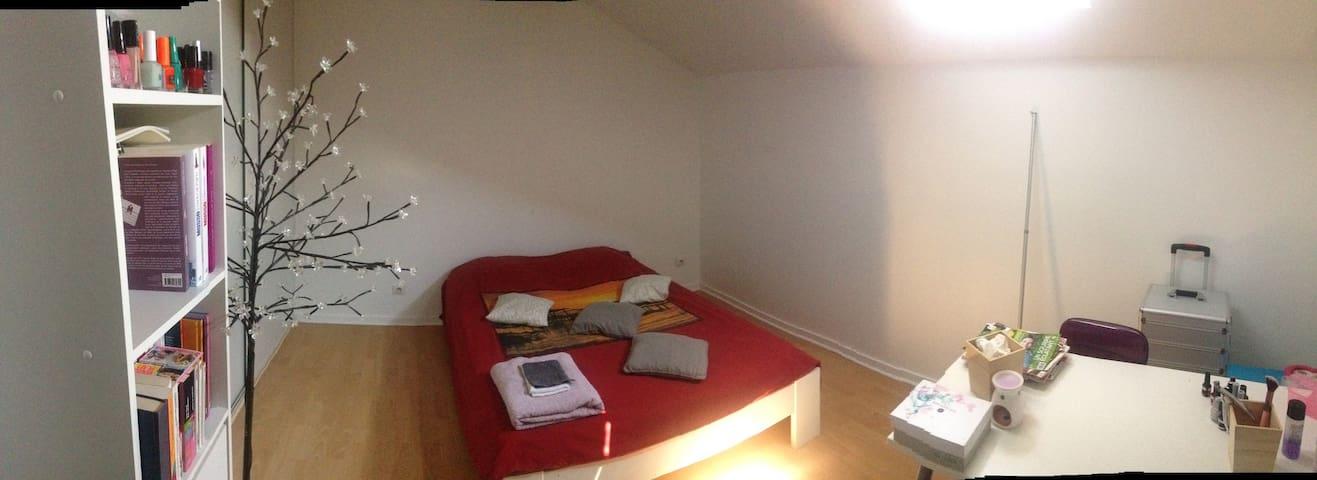 Chambre à louer proximité aéroport - Heyrieux - Lägenhet