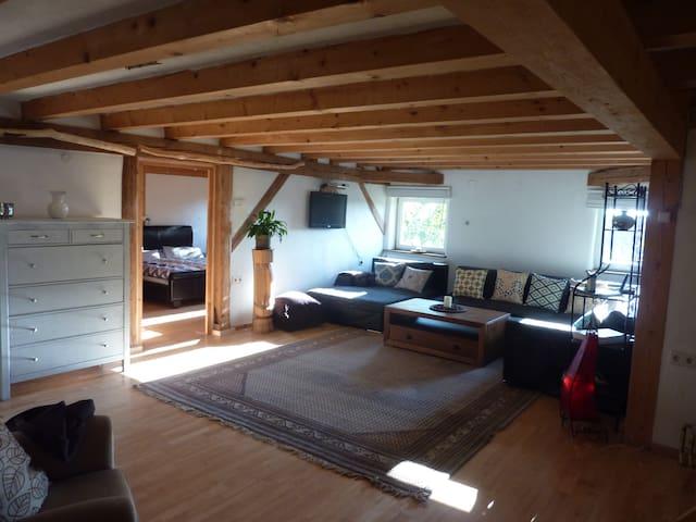 gemütliche große wohnung in Dorfrandlage - Ursberg - Apartamento