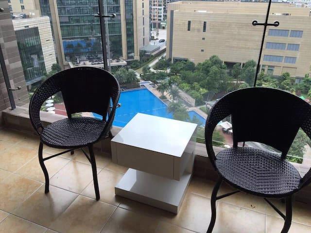 希尔顿公馆豪华酒店客房 - Heyuan - Appartamento con trattamento alberghiero