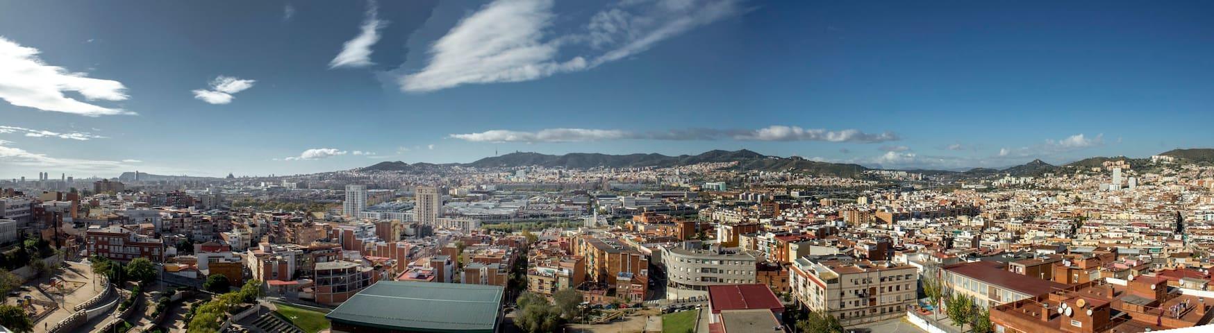 Hab. individual vistas panorámicas - Santa Coloma de Gramenet - Appartement