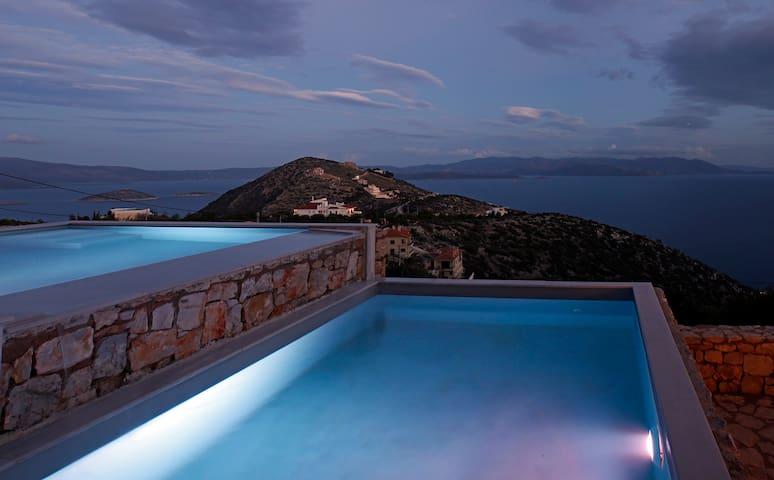 Sea View Maisonette, private pool - Schinias