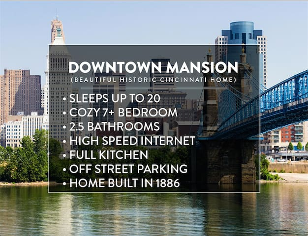 DOWNTOWN MANSION- 7 BEDROOM/ 3 BATH - Cincinnati - Casa