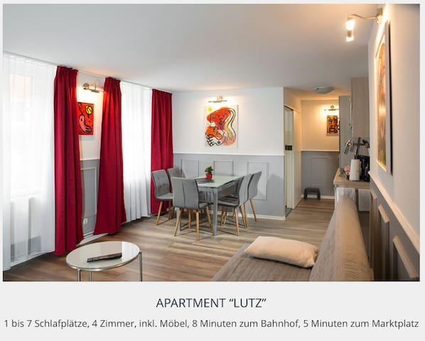 "4-Zi. Apartment ""Nr.13-Lutz"" im Zentrum - Greifswald - Lägenhet"