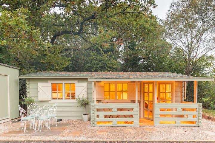 Family friendly sunny Log Cabin - Wimborne Minster