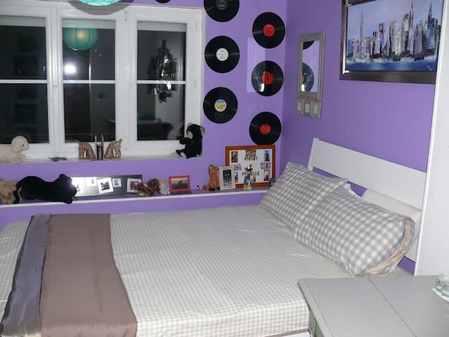 chambre violette - Mont-Saint-Éloi - Bed & Breakfast