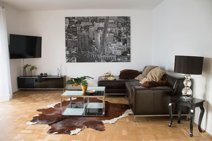 "Luxury 90sqm flat ""Hill"" - Your ""Hyggelig Haus""! - Elz - Appartement"