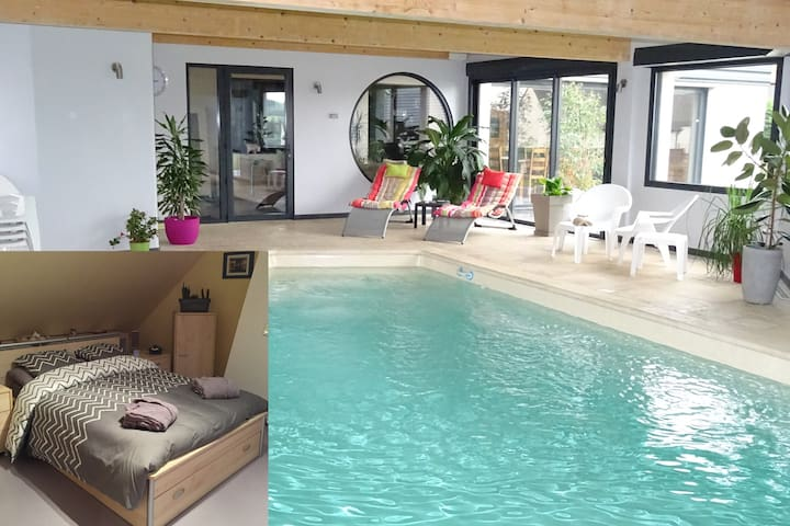 Chambre 1 ,piscine,billard,fitness - Dernancourt - Σπίτι