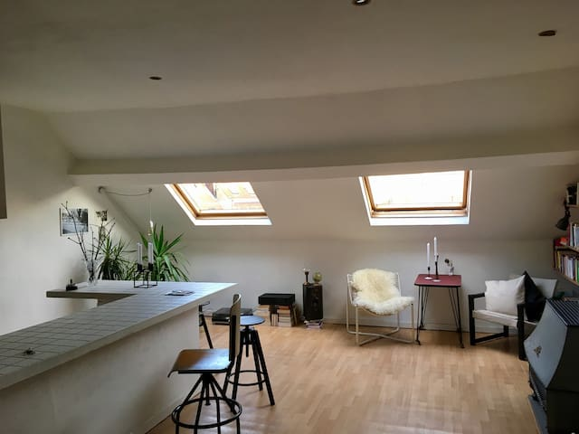 Spacious attic in Saint Gilles - Saint-Gilles - Apartamento