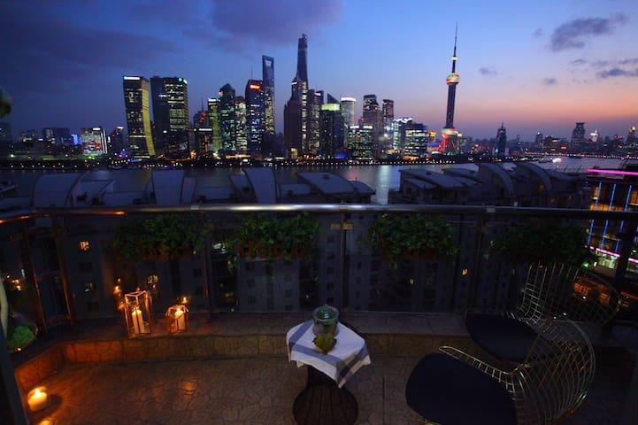 外滩江景套房零距离尽享陆家嘴风景(霓尚梦) - Shanghai - Appartement