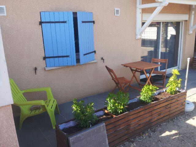 Appartement 36m2 refait à neuf dans villa au calme - Saint-Martin-la-Plaine - Lägenhet