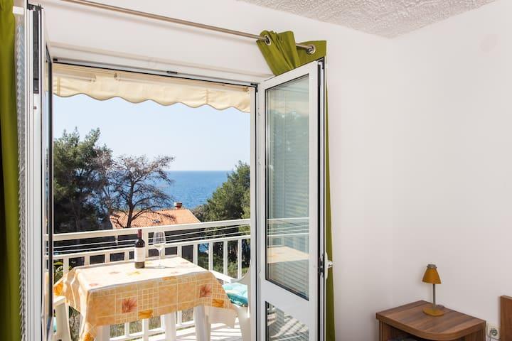 Villa Ana - One Bedroom with Balcony & Sea View 2 - Potomje
