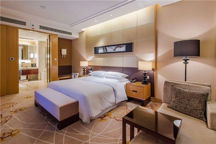 万达高级公寓含双早双晚,有单独泳池,健身房和温泉SP - Wuxi - Kondominium