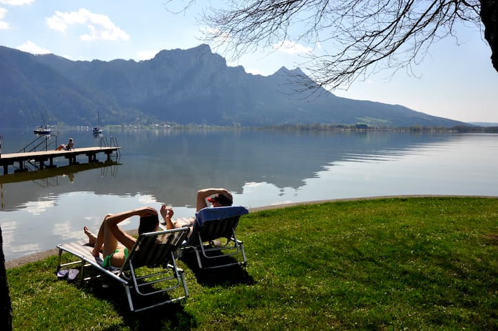 Living in the historic castle courtyard Mondsee - Mondsee - Appartement