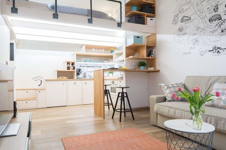 Gorgeous studio apartment in Prague city center! - Prag