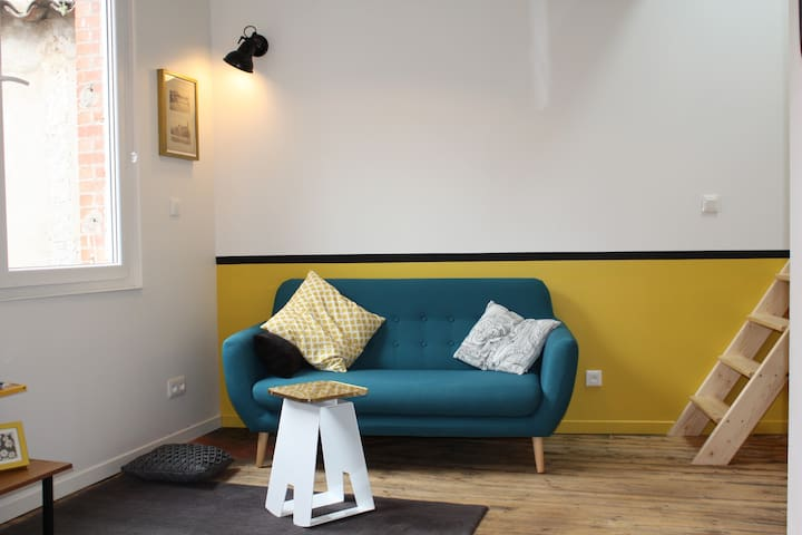 Large hyper-center studio mezzanine - Albi - Apartamento