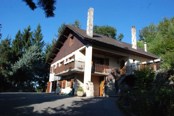 grande maison dauphinoise à étage au bord du lac - Montferrat - Huis