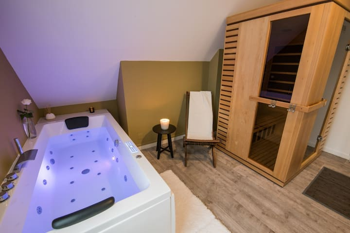 Apartment with private Spa in the heart of Troyes - Troyes - Daire