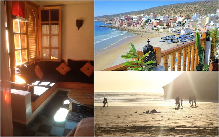 Blue Sea-View Studio with SURF, SUN and the BEACH - Taghazout - Daire