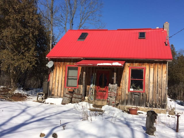 Rustic comfy century home, village, 16 acres. - Eden Mills - Casa