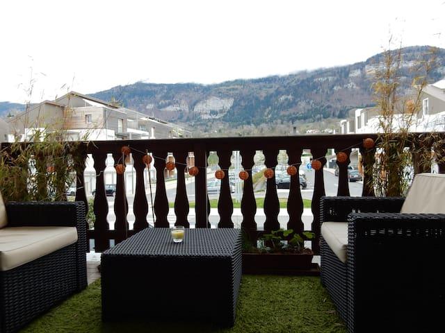 Appartement T2 vue Salève sur l'axe Genève-Annecy - Beaumont - 公寓