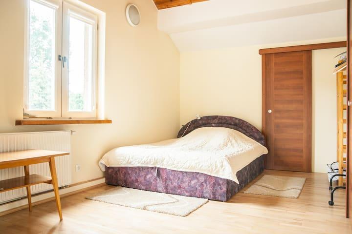 Big room with bathroom on the floor - Warschau - Huis