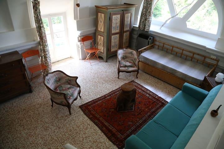 Bilocale in villa nel cuore della collina torinese - Arignano - Daire