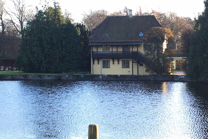 Historisk og romantisk lejlighed tæt på naturen - Glamsbjerg - Appartement