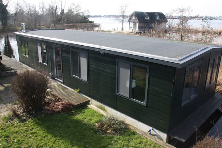 Houseboat 75 m2 at the lake, 25 min from Amsterdam - Aalsmeer - Daire
