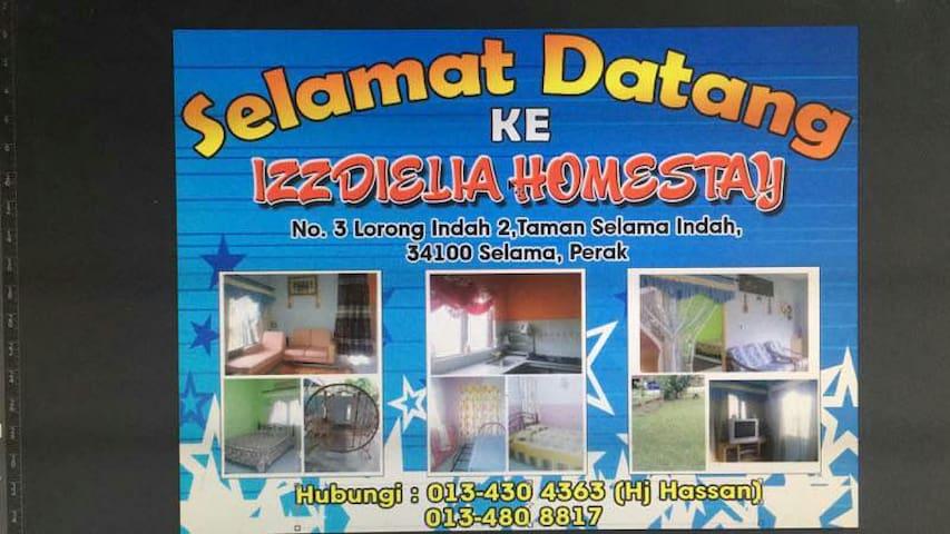 IzzDieLia homestay - Selama - Huis