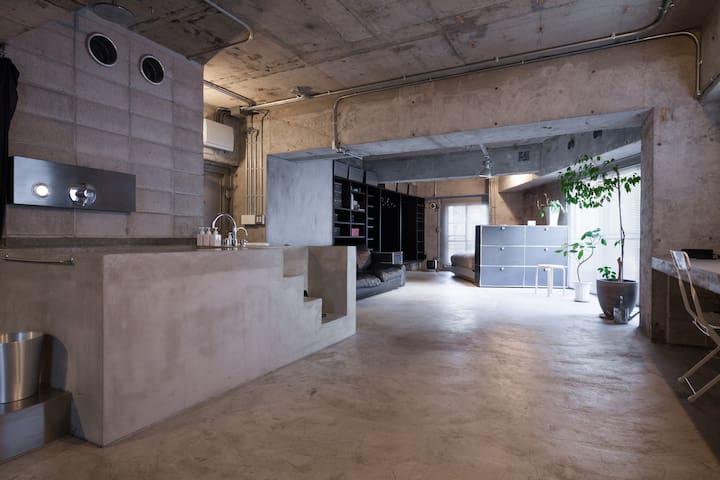 Tokyo Artist Loft in Omotesando - Minato-ku - Apartament